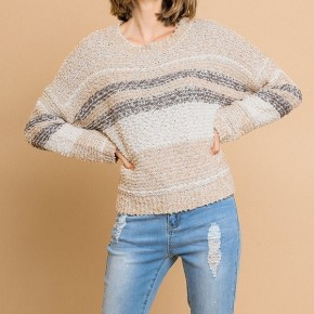 Umgee Stripe Soft Knit Sweater