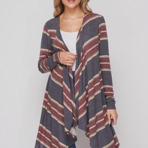 HoneyMe Asymmetrical Long Sleeve Cardigan