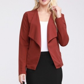 Long Sleeve Open Front Blazer - True to size