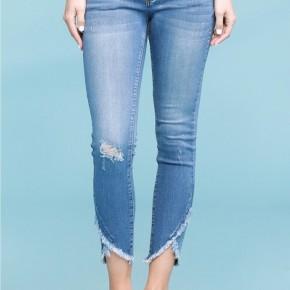 Judy Blue Medium Wash Tulip Hem Skinny Jeans