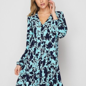 HoneyMe Cascading V-Neck Dress