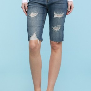 Judy Blue Destroyed Cut-Off Bermuda Shorts