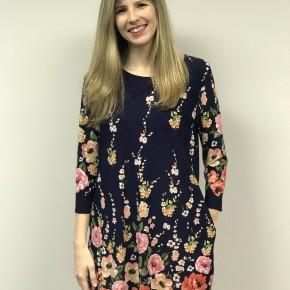 HoneyMe Navy Floral Dress