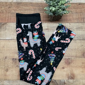 Christmas Llama Kids Leggings