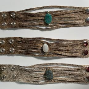 Custom Made Leather Cuff Brown Druzy Bracelet