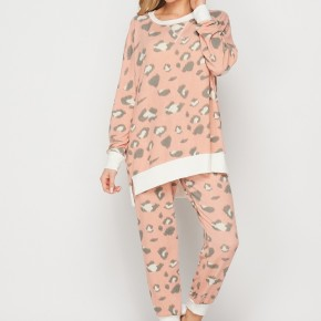 HoneyMe You've Got To Be Kitten Me Joggers in Peach