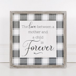 Love Between a Mother and Child Framed Sign