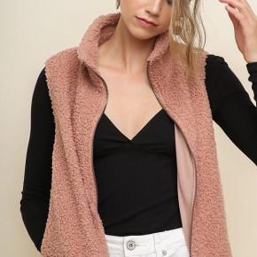 Umgee Double Knit Zip Vest