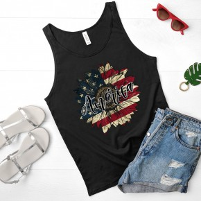 American Flower Graphic Tee and Tank