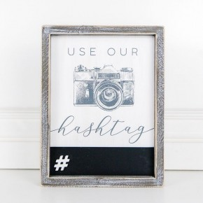 Use Our Hashtag Framed Sign