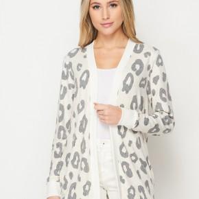 HoneyMe Leopard Snuggles Cardigan