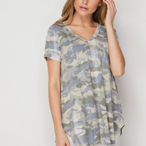 HoneyMe Charcoal and Blue Camo Victoria