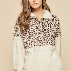 Andre By Unit Leopard Pullover