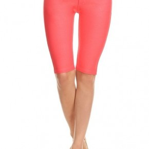 Women's Classic 5 Pocket Bermuda Shorts in Coral
