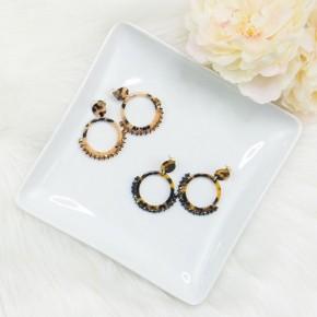 Beaded Tortoise Earrings