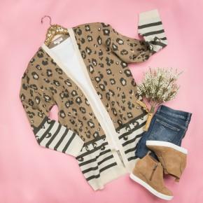 Winter Leopard Cardigan