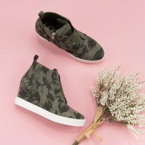 Camo Zoey Sneaker Wedge