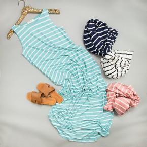 HAPPY HOUR // Stripe Maxi Dress *all sales final*