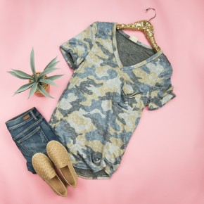 New Day Camo Top