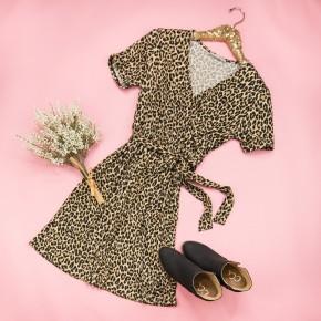 Wrapped In Leopard Dress