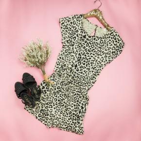 Cream Leopard Romper