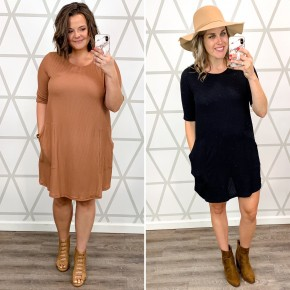 Textured Pocket Dress *all sales final*