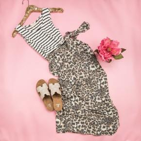 Stripe + Leopard Maxi
