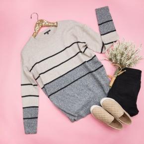 Neutral Stripes Sweater