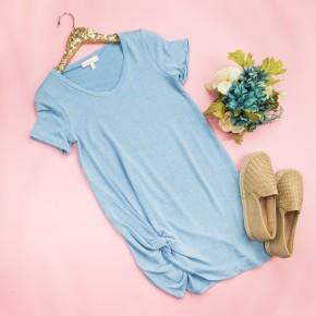 Blue Sky Twist Dress  *all sales final*