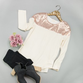 Gold Accent Top