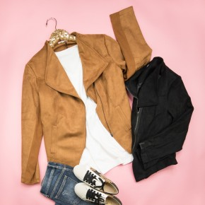 Chic Suede-like Jacket
