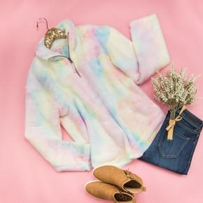 Cotton Candy Tie Dye Sherpa