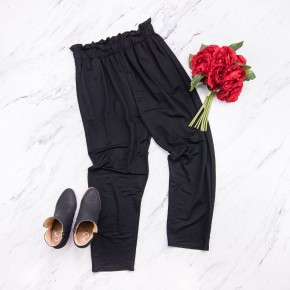Black Working Girl Pants