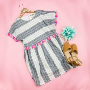 Neon Tassel Vacation Dress
