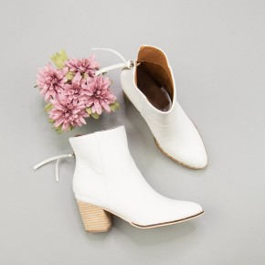 Chic White Bootie