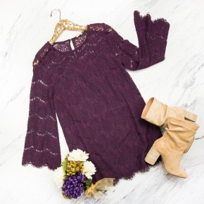 Purple Lace Party Dress