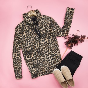 Leopard Cold Days Top