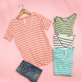 HAPPY HOUR //Simple Striped Tee *all sales final*