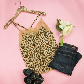 Sassy & Lace Leopard Tank(repost) *DONT POST USING FOR LIVE*