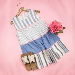 Girly Girl Striped Dress