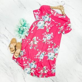Falling For You Fuchsia Dress