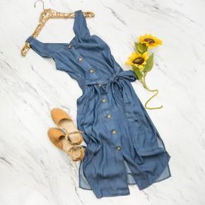 Staccato Denim Dress *all sales final*