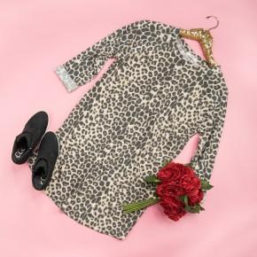 Leopard Cuff Dress