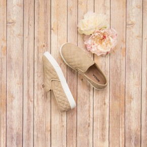 Neutral  Quilted Slide