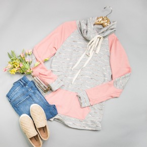 Pops of Pink Pullover