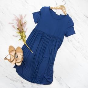 Simple Navy Dress