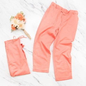 Faded Coral Pants