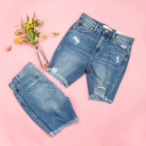 High Rise Kancan Distressed Shorts *all sales final*