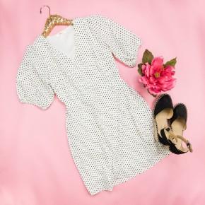 Polka Dot Ivory Dress