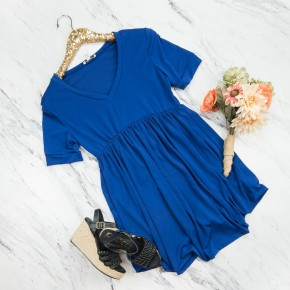White Birch Cobalt Dress